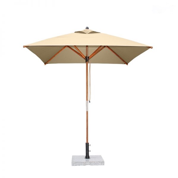 <p>Parasols Kara – Square Kahki 2m Bamboo Lightweight Centre Pole Garden Shade Umbrella</p> <p></p> <p>Premium, stylish, lightweight, and beautiful high-grade natural laminated bamboo centre pole commercial & residential parasol offering the ideal shade solution providing comfort and protection from the environmental conditions be it blazing hot sunshine or pouring rain.</p> <p></p> <p>Suitable for commercial settings, but equally at home in residential settings too – lightweight size enabling customers to experience a continental atmosphere</p>