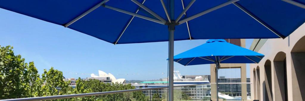Aluminium Centre Pole - Hotel Balcony Terrace Shade Cover