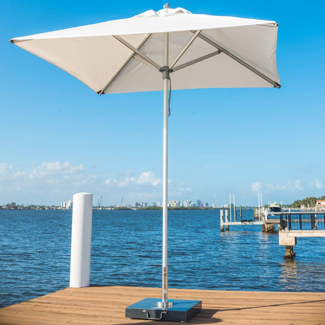 <p>Parasols Coral – Aluminium Lightweight Centre Pole – Harbour Terrace Shade Cover</p> <p>Premium, stylish, and beautiful aluminium centre pole commercial parasol offering the ideal shade solution providing comfort and protection from the environmental conditions be it blazing hot sunshine or pouring rain.</p> <p>Suitable for commercial settings, but more suited to residential settings due to smaller and lightweight size enabling customers to experience a continental atmosphere</p>