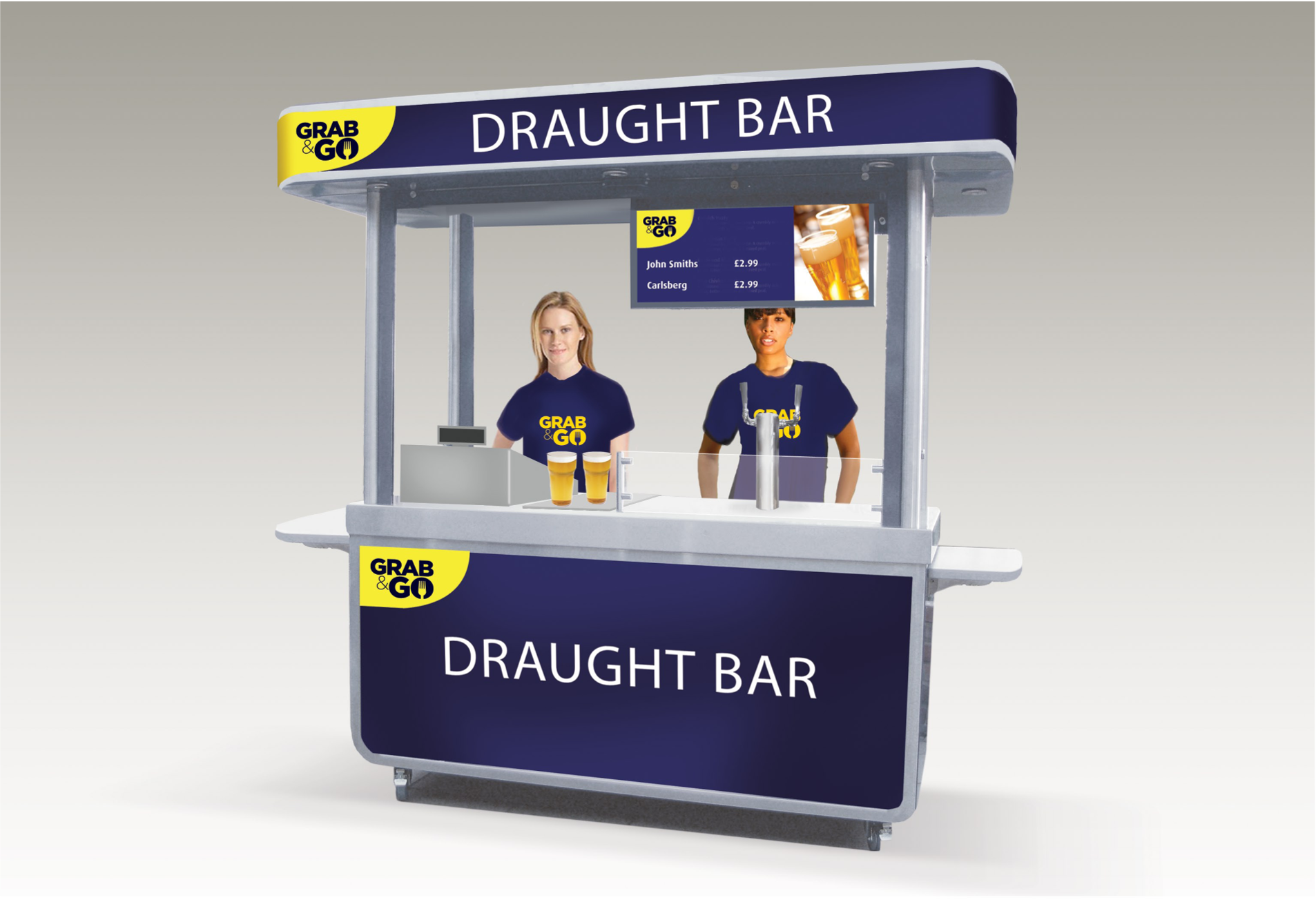 <p>Bespoke Products – Mobile Carts – Mobile Bars – Custom Design – Draught Beer</p> <p></p> <p>Stylish, eloquent & bespoke made Portable Drinks Bar – branding as desired</p> <p></p> <p>Designed to meet the customer needs & objectives to include draught dispense, champagne, Pimms, multi-purpose etc or whatever the customer requires to make their mobile beverage bar unique & exclusive to their brand</p> <p></p> <p>One example of a design. We can design and manufacture to meet customer's specific objectives – foldable, static, but still mobile</p>
