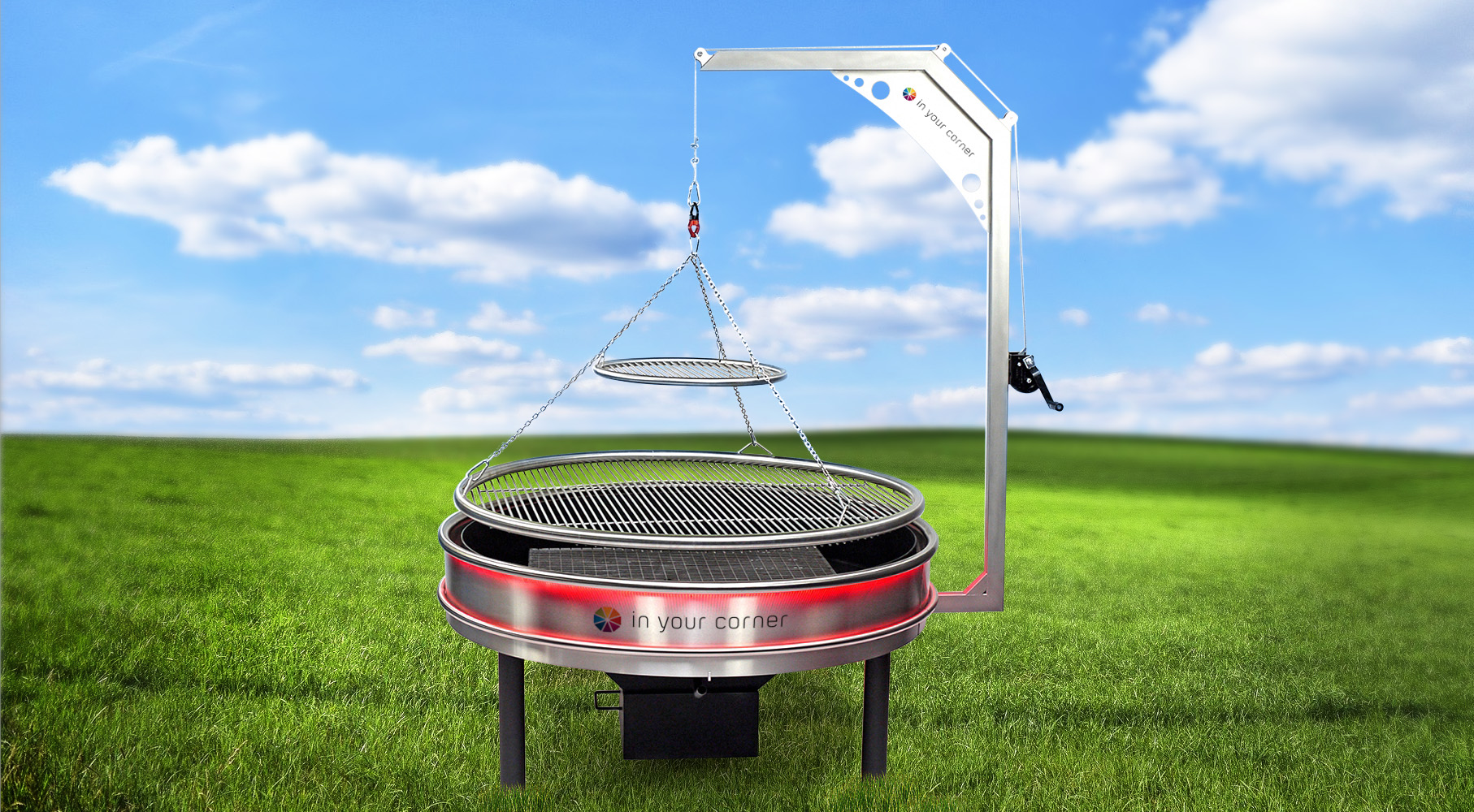 <p>Sanki Swinging Grills Lumiere Ash Drawer Hopper Warming Circle & LED Lights</p> <p></p> <p>Displaying the Lumiere model with the LED Lights & Ash Drawer and Hopper, available to catch the ash and allowing for use over longer periods of time.</p> <p></p> <p>Create the ideal focal point at your hospitality outdoor space helping to serve customers whilst relieving kitchen staff</p>